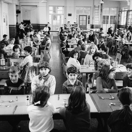Lunchtime at St Mary's School, Chiddingford School: c.1970