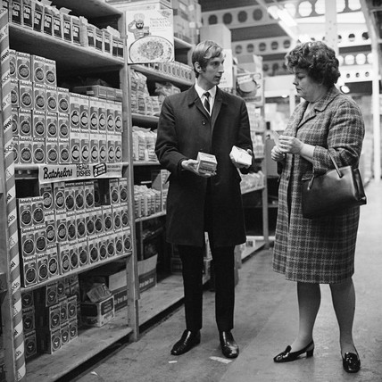 A woman in the soup aisle: c.1970
