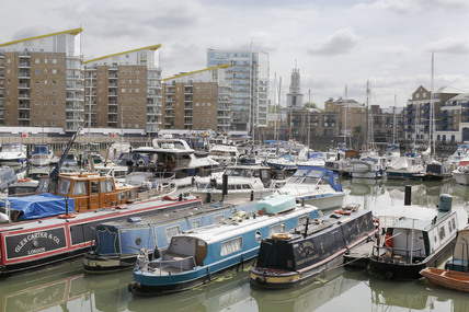 Boats in the Limehouse Basin; 2009