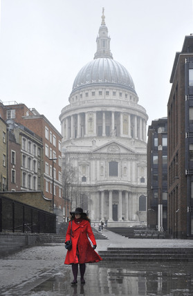 St. Pauls Cathedral in the rain; 2010