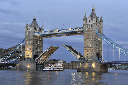 Tower Bridge at dusk; 2010