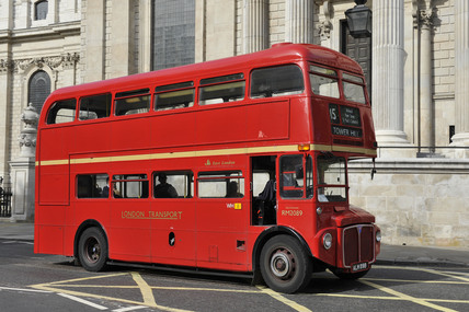 An old Routemaster bus; 2010