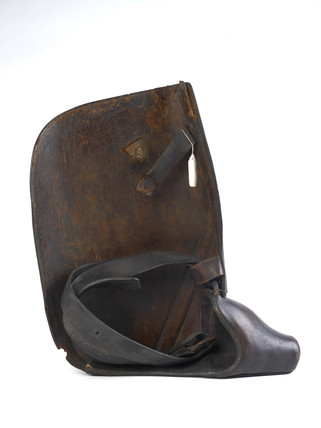 A postillion's boot sheild c. 1695-1705