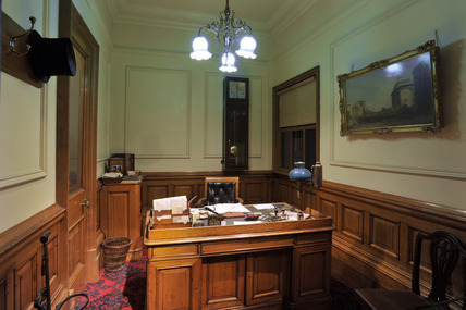 A view of the Bank Managers Office in the Victorian Walk Gallery