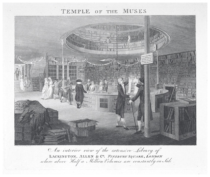 The Temple of the Muses: c1798