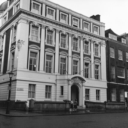 The exterior of the Italian Hospital in Bloomsbury; 1952-1961