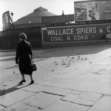 A street scene near the Camden Roundhouse; c1950