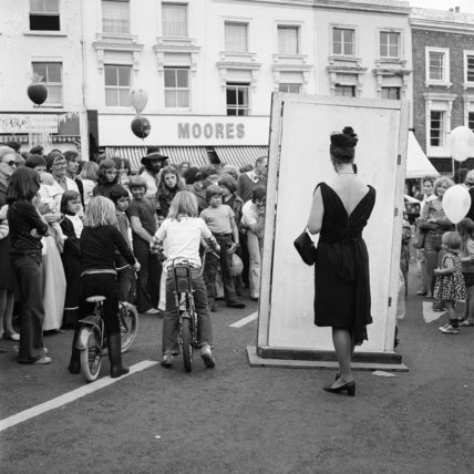 The crowd at Belsize Village Festival; c 1970