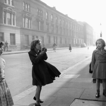 Young girls playing in a street in Ladbroke Grove; c1957
