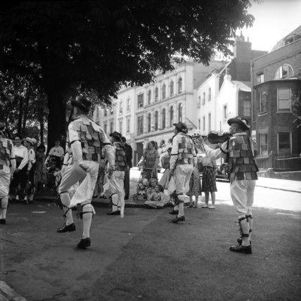 Morris Dancers performing  in Hampstead; 1955