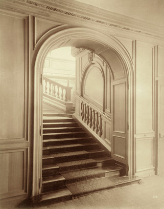 Staircase at Ashburnham House: 1882