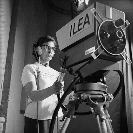 Trainee technician at the ILEA TV Centre; c 1970