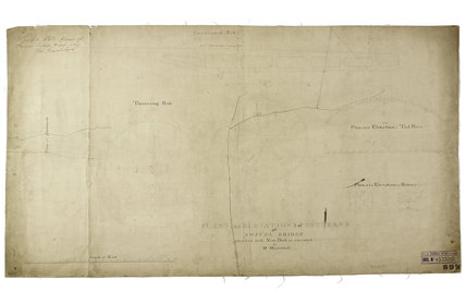 'Plans and Elevations of Patterns of Swivel Bridge intended for the New Dock as executed by Mr Mackintosh.': c.1800