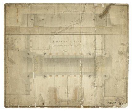 Longitudinal Section plan of the Communication Lock in The London Docks: c.1800