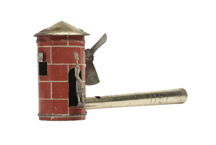 Tinplate penny whistle; 1907