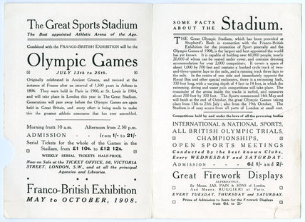 Olympic Games in the Great Stadium; 1908