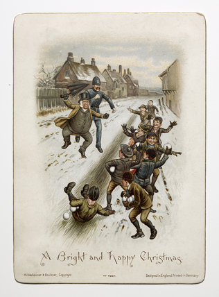 Victorian Christmas Card: c.1890