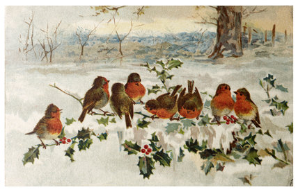 Victorian Christmas Card;