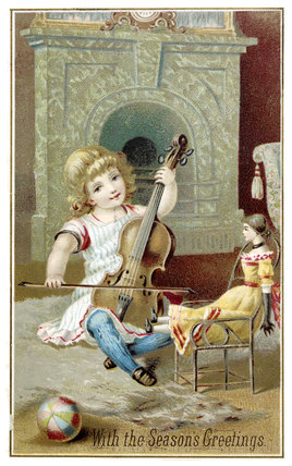 Victorian Christmas Card: 1883