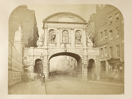 Fleet Street, The Strand and Temple Bar; c 1870