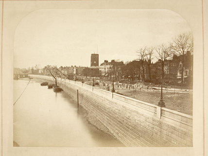 Chelsea Embankment looking west: c.1872