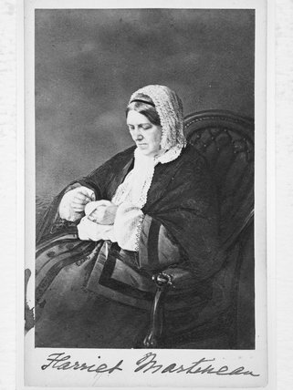 Portrait of Harriet Martineau; c. 1865