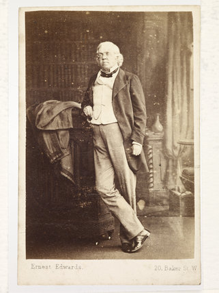 Novelist William Makepeace Thackeray; c.1860