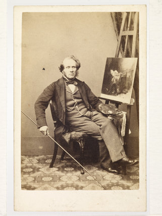 Portrait of artist William Powell Frith; c 1864