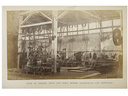 The heavy turnery and smith shop at John Penn's factory, 1863