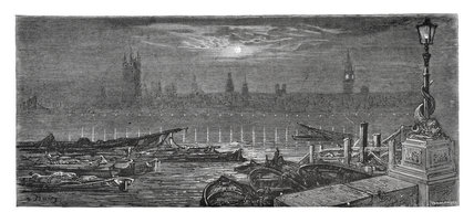 The Houses of Parliament by night: 1872