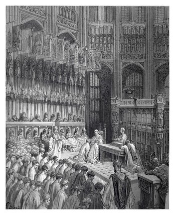 Westminster Abbey - confirmation of west boys: 1872