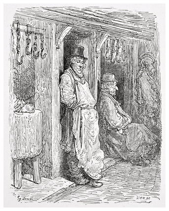 Jewish butchers - Aldgate: 1872