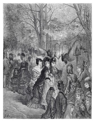 Zoological gardens - the parrot walk: 1872