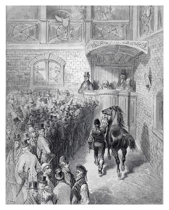 A sale at Tattersalls: 1872
