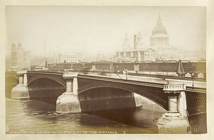 Blackfriars Bridge with the City in the distance; c1880