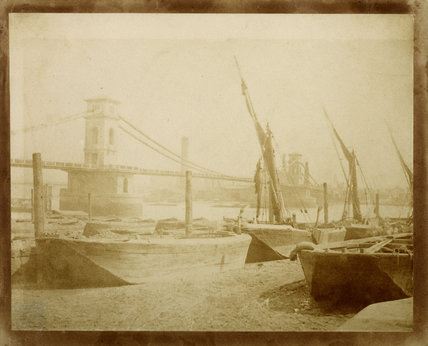 Hungerford Suspension Bridge, c.1845