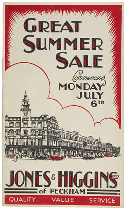 Jones & Higgins department store 'Summer Sale': 1936