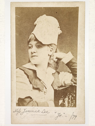 Portrait of Jennie Lee  in costume: 1879