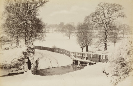 Blind Lane Brook in the snow; c.1870