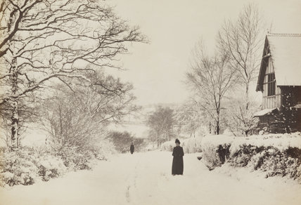 Blind Lane, Osidge, in the snow, c.1870.