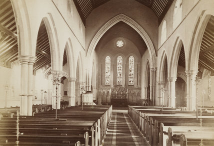 Interior of Christ Church, The Green, Southgate