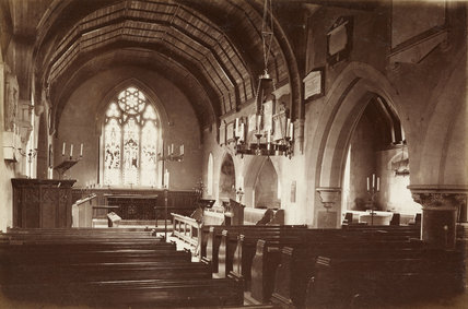 Interior of East Barnet Church; c1870