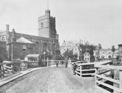 Fulham Church and neighbouring houses; c.1880