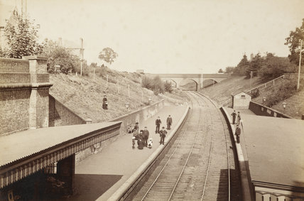 Winchmore Hill Station,  Winchmore Hill, c.1870.