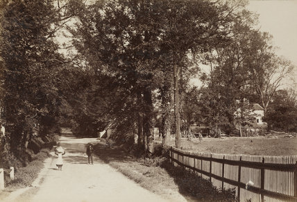 Busk's Lane, Winchmore Hill, c.1870.