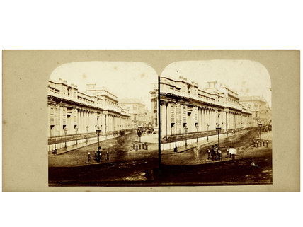 Stereo card view of the Bank of England