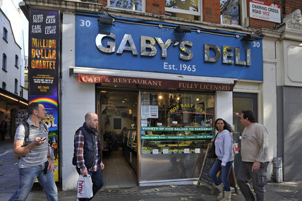 Gaby's Deli in Charing Cross Road; 2011