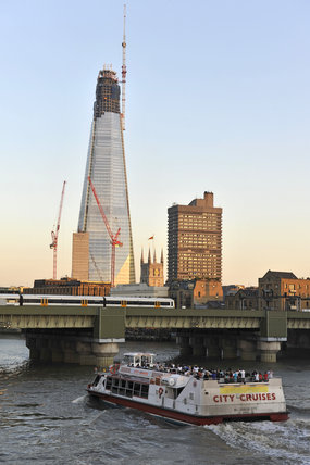 View of the Shard from the river Thames, 2011