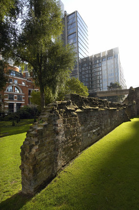 Part of the old London Wall; 2011