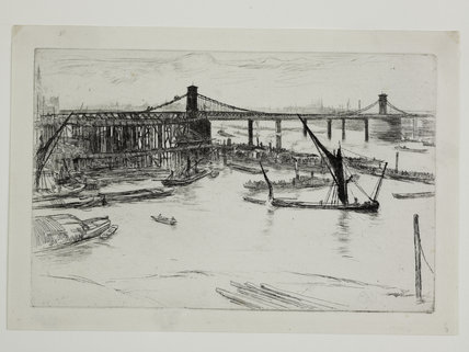 Old Hungerford Bridge: 1861
